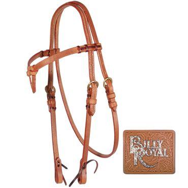 obrázek: Billy Royal® Harness Leather Futurity Browband Bridle
