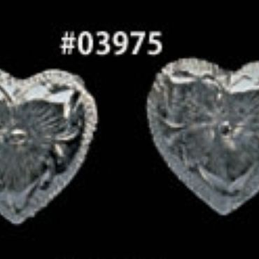 obrázek: Silver Plate Number Heart Concho