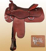 "obrázek: Billy Royal® Comfort Classic II Western Work Saddle 16"" FQH Bars"